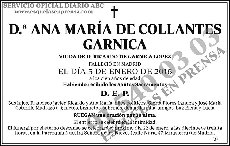 Ana María de Collantes Garnica